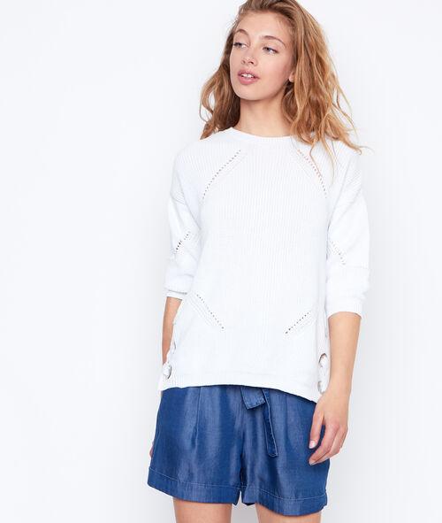 Short ceinturé en jean