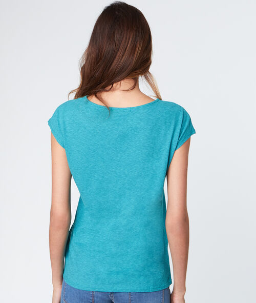 T-shirt manches courtes brodé