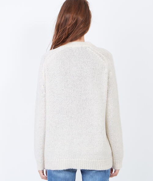 Knitted V-neck cardigan