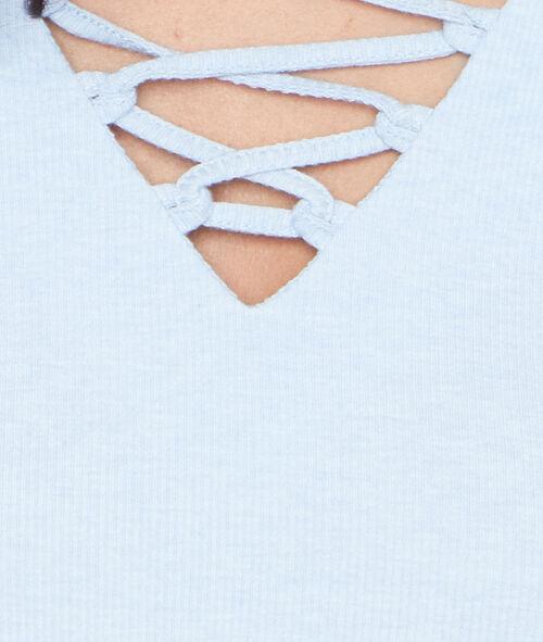Top manches courtes à lacets