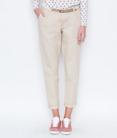 Carrot pants beige.