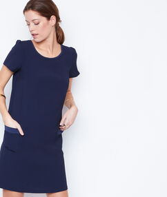 Short sleeves dress navy.