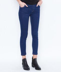 Croped jeans raw denim.