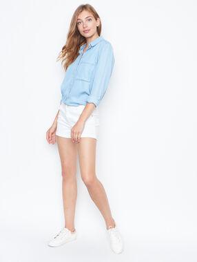 Chemise en jean manches longues bleu.