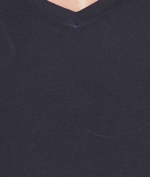 T-shirt manches 3/4 à col V