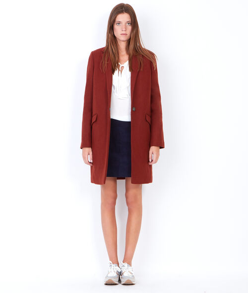 Wool coat with tailored aspect collar