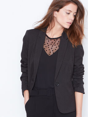 Suit jacket black.