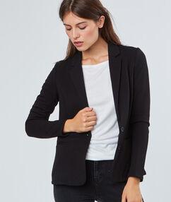 Veste blazer boutonnée noir.