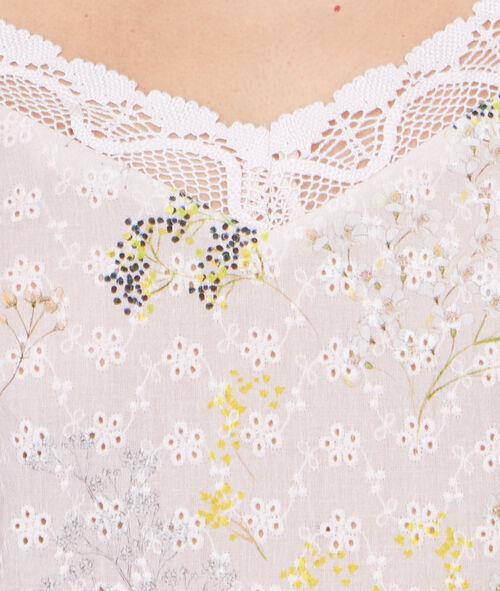 Top à bretelles imprimé floral