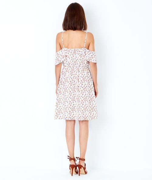 Printed cold shoulder dress