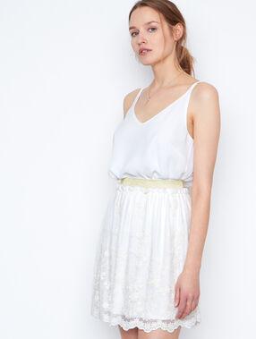 Skirt white.