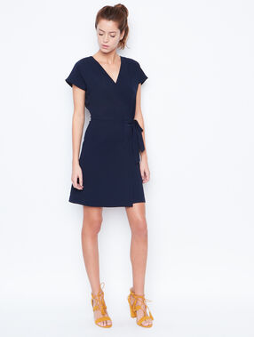 Flowing dress navy.