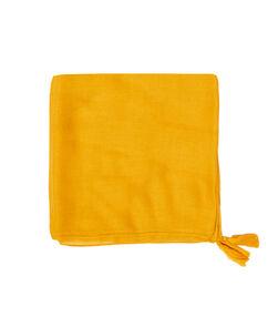 Tassel scarf yellow earth.