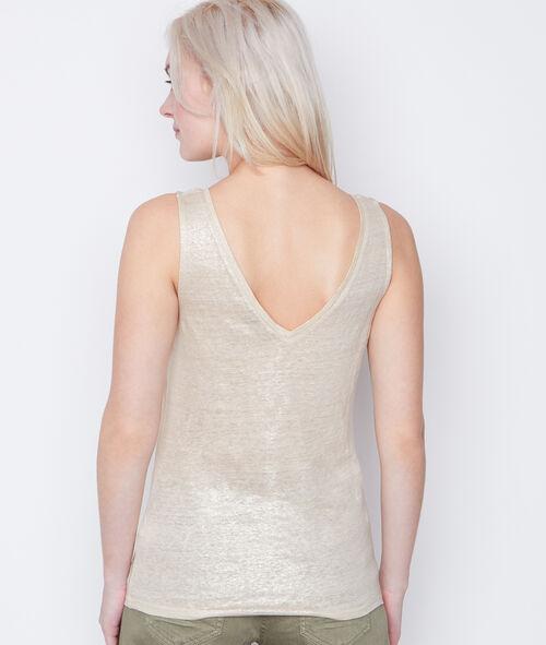 Sleeveless linen top