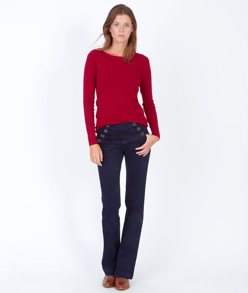 Long sleeve slash neck jumper