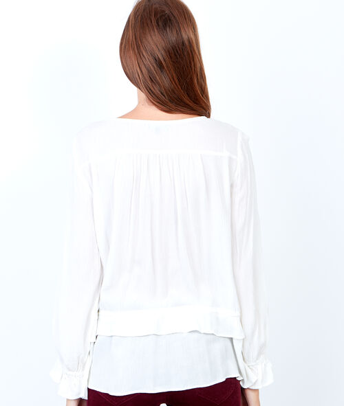 Layered henley blouse