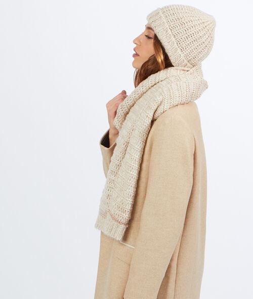 Echarpe tricot lurex