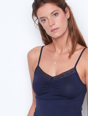 Tank-top marineblau.