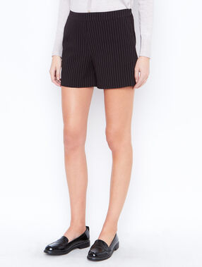 Striped shorts black.