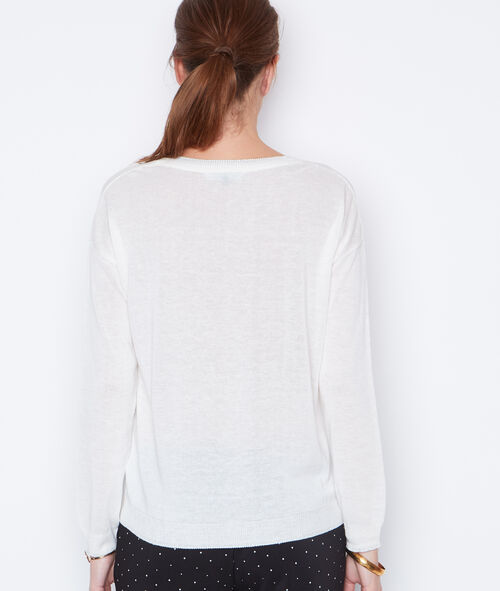 Lace long sleeves sweater