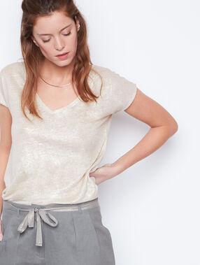 Linen t-shirt beige.