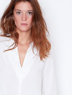 V-neck blouse white.