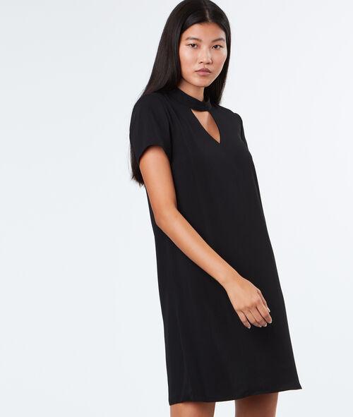 Dress with choker collar