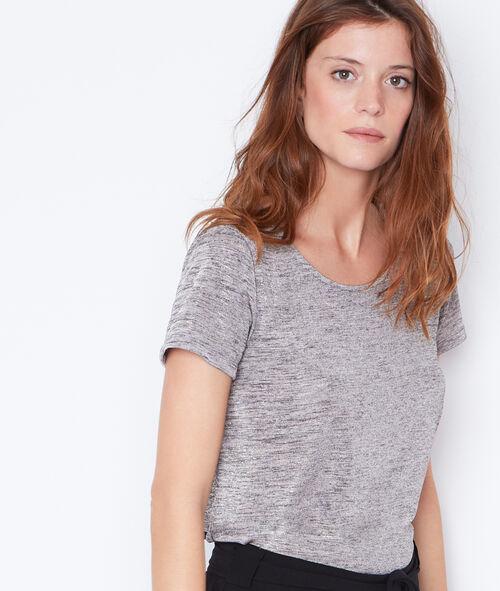 T-shirt manches courtes en fibres métalisées
