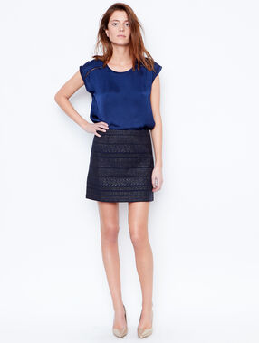 Jacquard skirt blue.