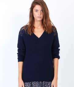 Pullover blau.