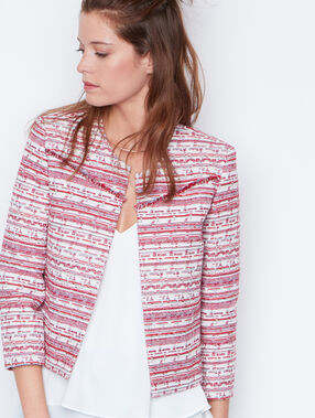 Jacquard jacket white.