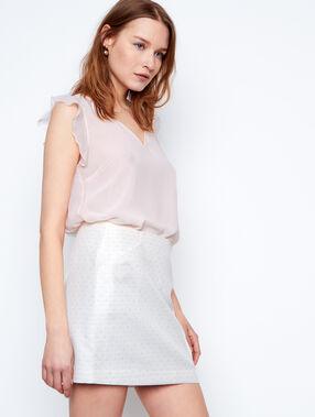 Jacquard skirt white.