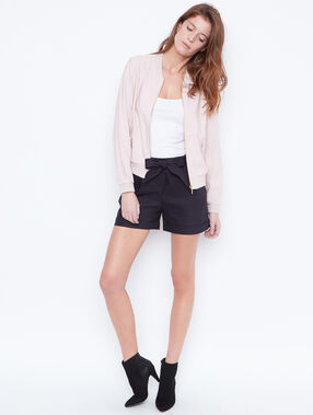 Bomber jacket blush.
