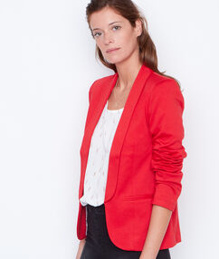 Tailored fitted blazer red.