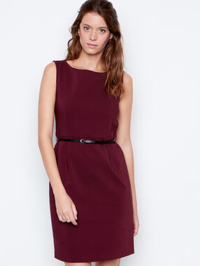 Structured dress plum.