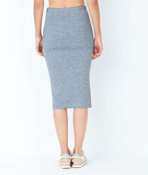 Knitted pencil skirt