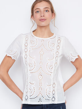 Lace top white.