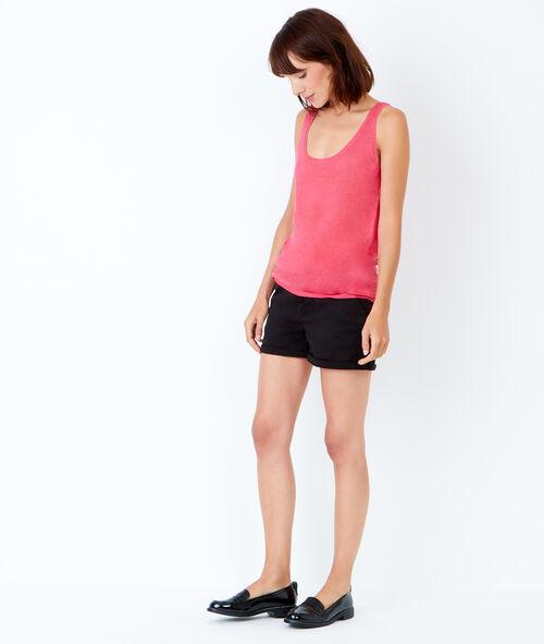 Sleeveless linen jumper