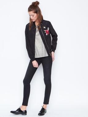 Embroidered jacket black.