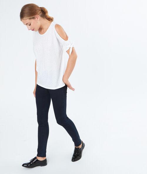 T-shirt simple épaules ouvertes