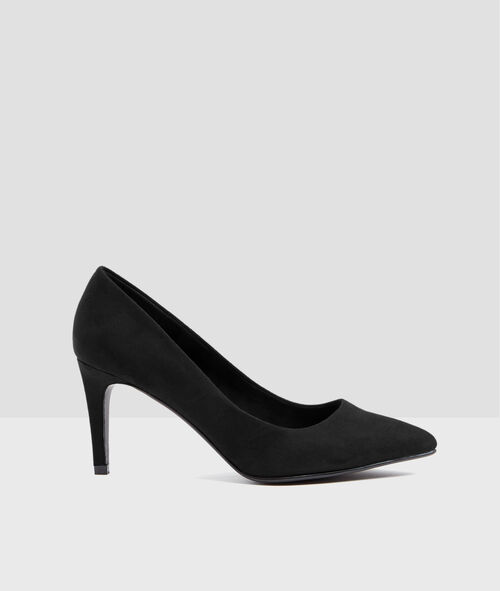 Plain heeled court shoes