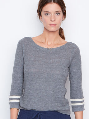 3/4 sleeves sweater grey.