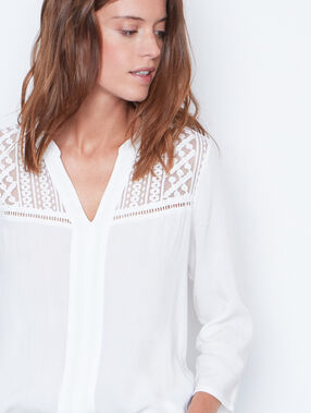 3/4 sleeve blouse white.
