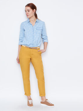 Belted pant yellow.
