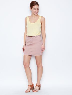 Belted skirt nude.