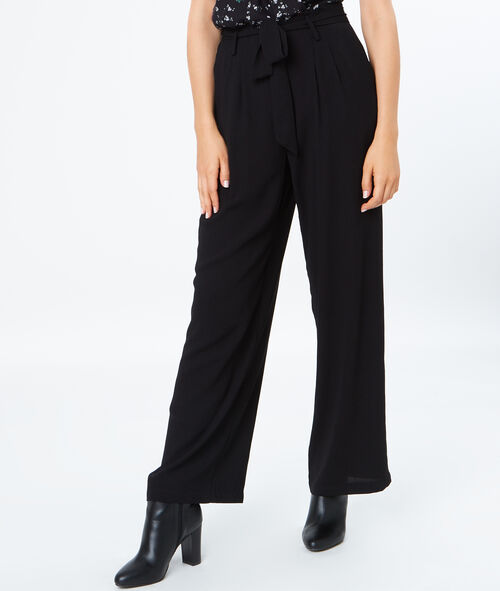 Flared flowing pants