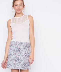 Short skirt lightblue.