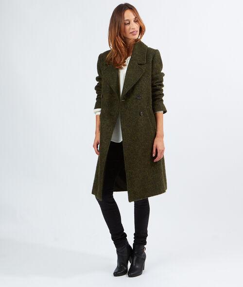Manteau laine long