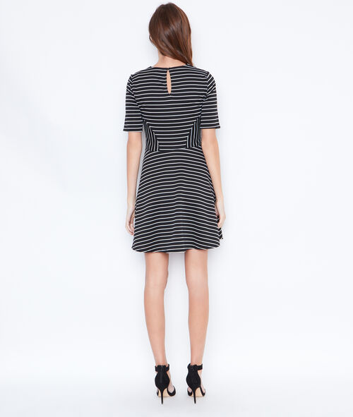 Striped flare dress