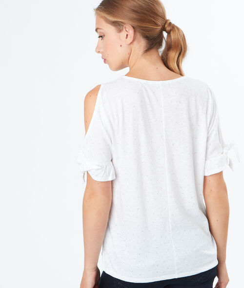 Open shoulder t-shirt